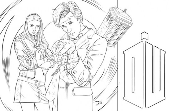 Doctor Who Coloring Pages Free for Kids IX63T