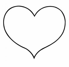 Free Simple Hearts Coloring Pages for Children CM3XV