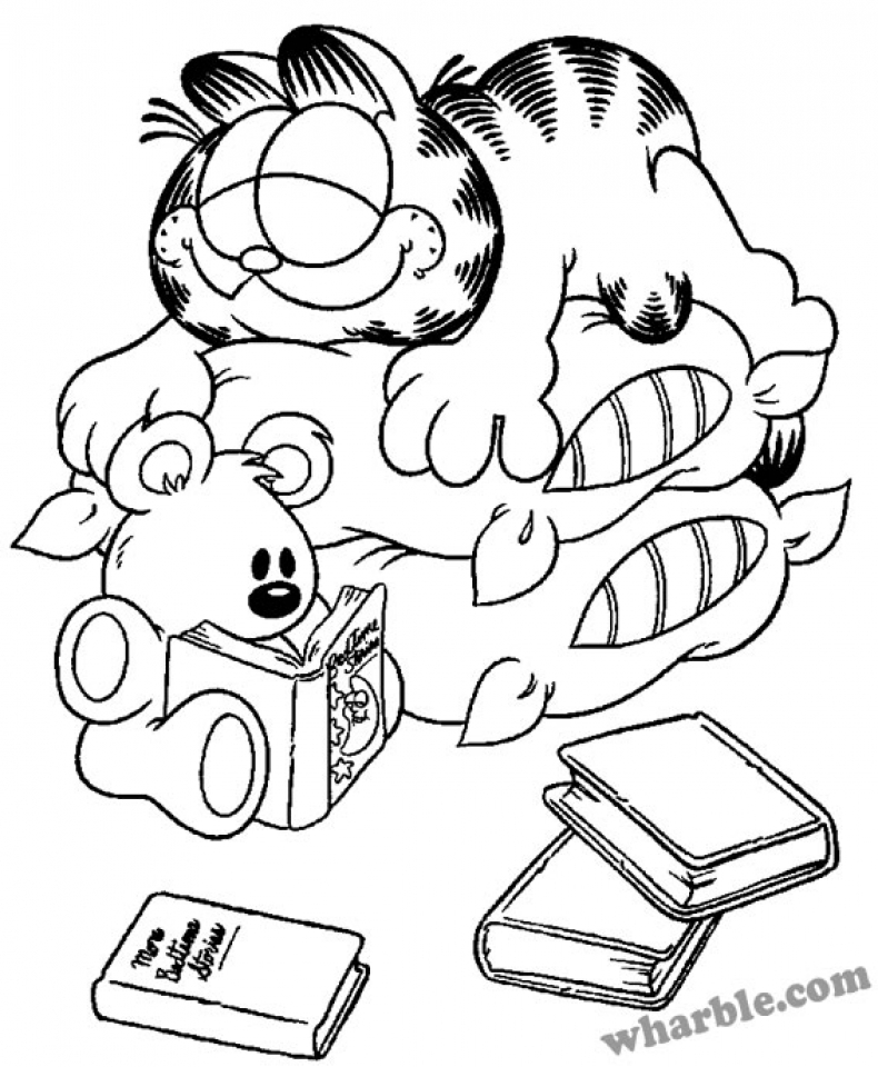 Online Garfield Coloring Pages for Kids   OS92R