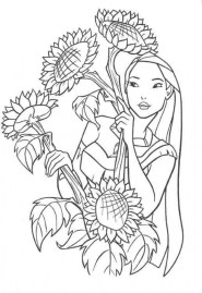 Pocahontas Coloring Pages for Toddlers MHTS9