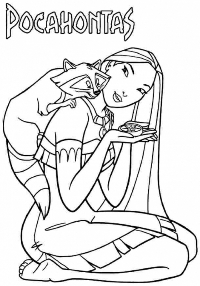 Pocahontas Coloring Pages to Print for Kids   Q1CIN