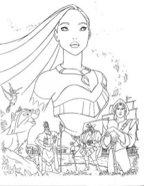 Pocahontas Coloring Pages to Print Online 625N6