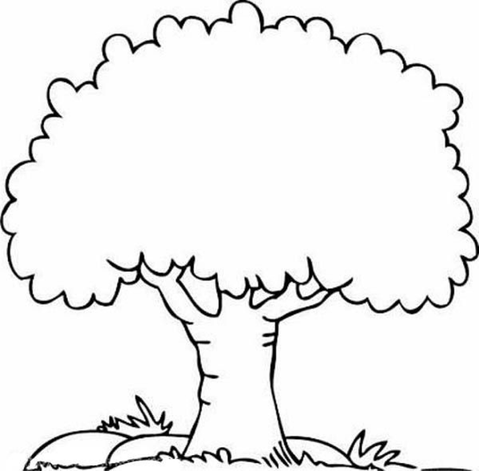 This is a graphic of Printable Tree inside stencil