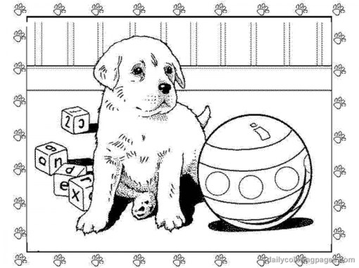 Puppy Coloring Pages Free for Kids IX63T
