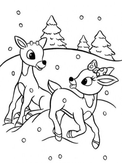 Rudolph Coloring Page to Print Online 625N6