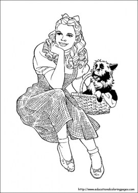Wizard Of Oz Coloring Pages Printable for Kids WY71R