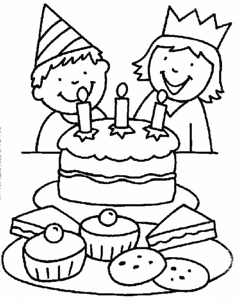 Get This Birthday Cake Coloring Pages Free Printable 51582