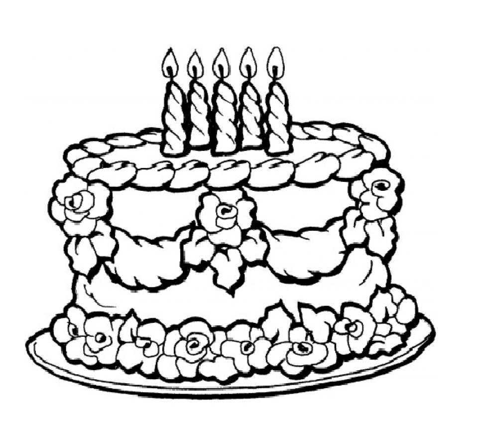 Get This Birthday Cake Coloring Pages Free Printable 9466