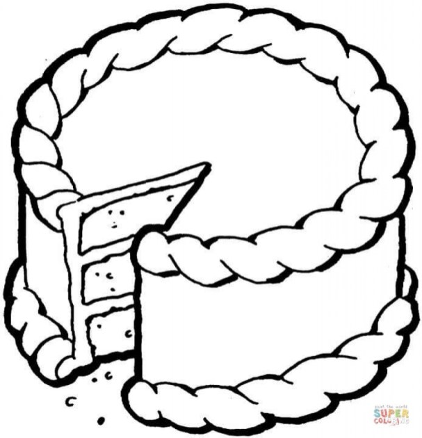 Cake Coloring Pages Printable for Kids r1n7l