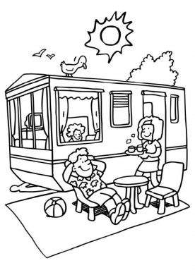 Camping Coloring Pages Free Printable 9466