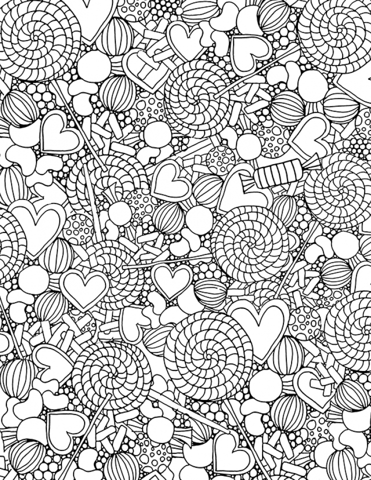 Candy Coloring Pages Online Printable   nhywg