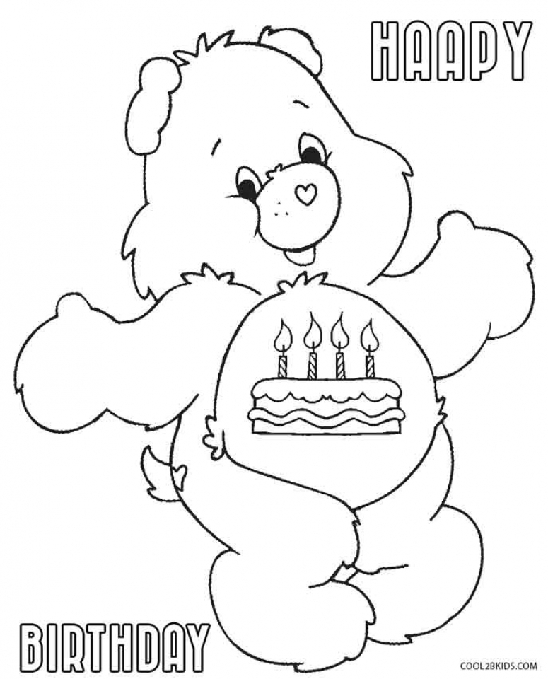 Care Bear Coloring Pages for Toddlers   dl53x