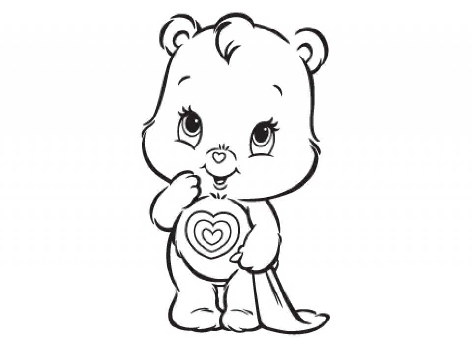 Care Bear Coloring Pages Vintage Care Bear Coloring Book With ... | 712x960