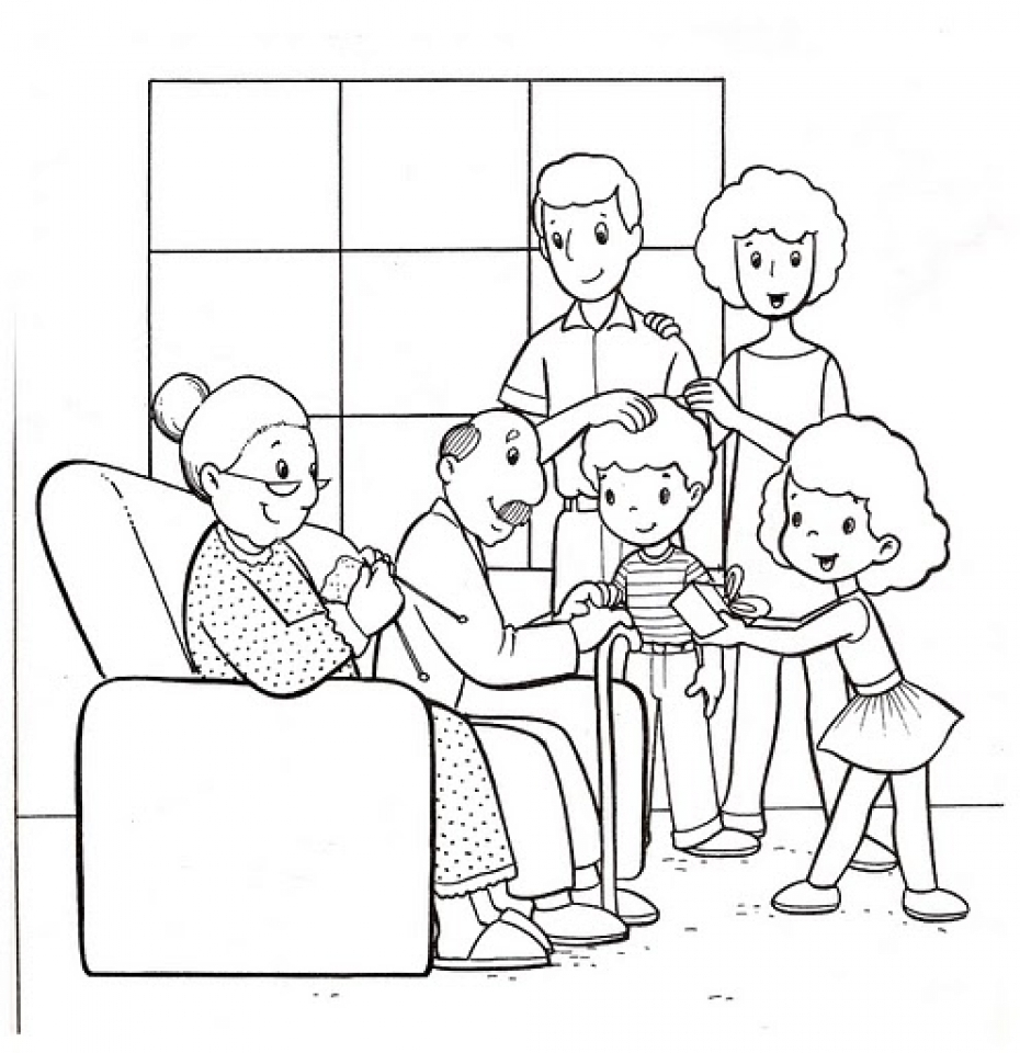 Easy Family Coloring Pages for Preschoolers   9iz28