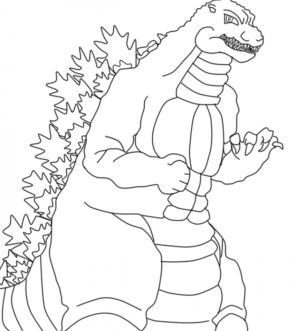 Easy Godzilla Coloring Pages for Preschoolers XoN4i