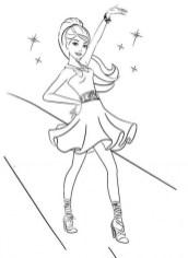 Easy Preschool Printable of Barbie Coloring Pages qov5f