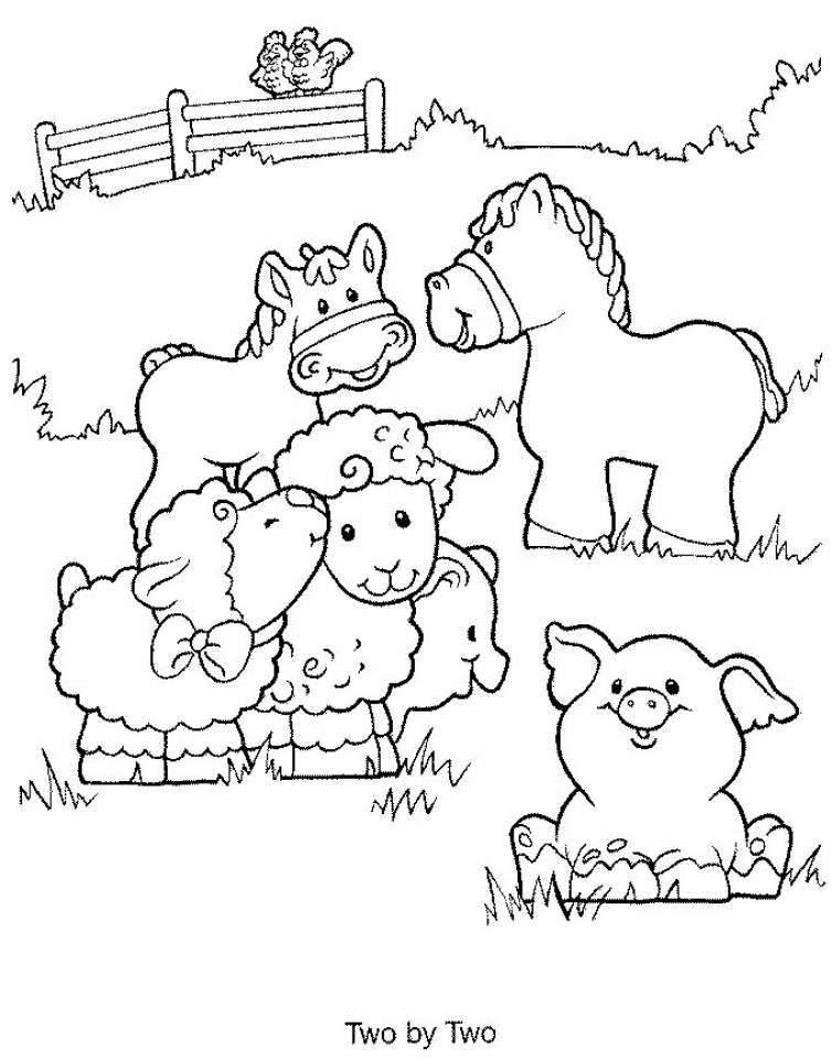 Get This Easy Printable Farm Animal Coloring Pages For Children