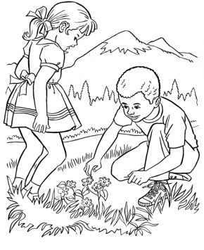 Easy Printable Nature Coloring Pages for Children la4xx