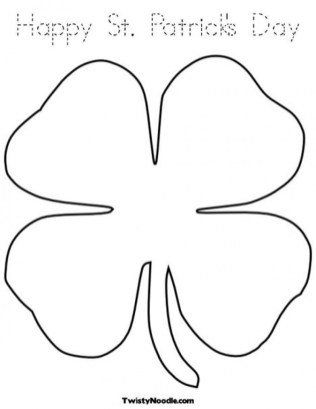 Easy Shamrock Coloring Pages for Preschoolers 9iz28