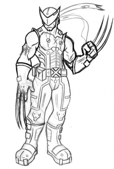 Easy Wolverine Coloring Pages for Preschoolers XoN4i