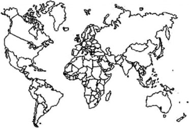 Easy World Map Coloring Pages for Preschoolers 9iz28