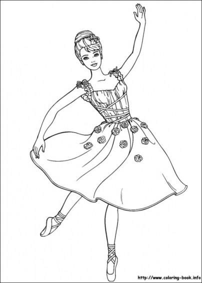 Free Barbie Coloring Pages for Kids yy6l0