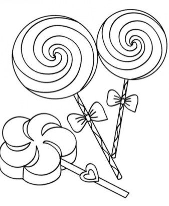 Free Candy Coloring Pages for Toddlers p97hr