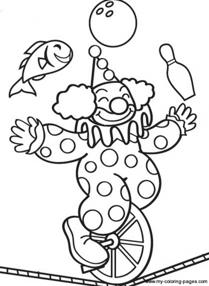 Circus Coloring Pages Printable - Coloring Home | 960x704
