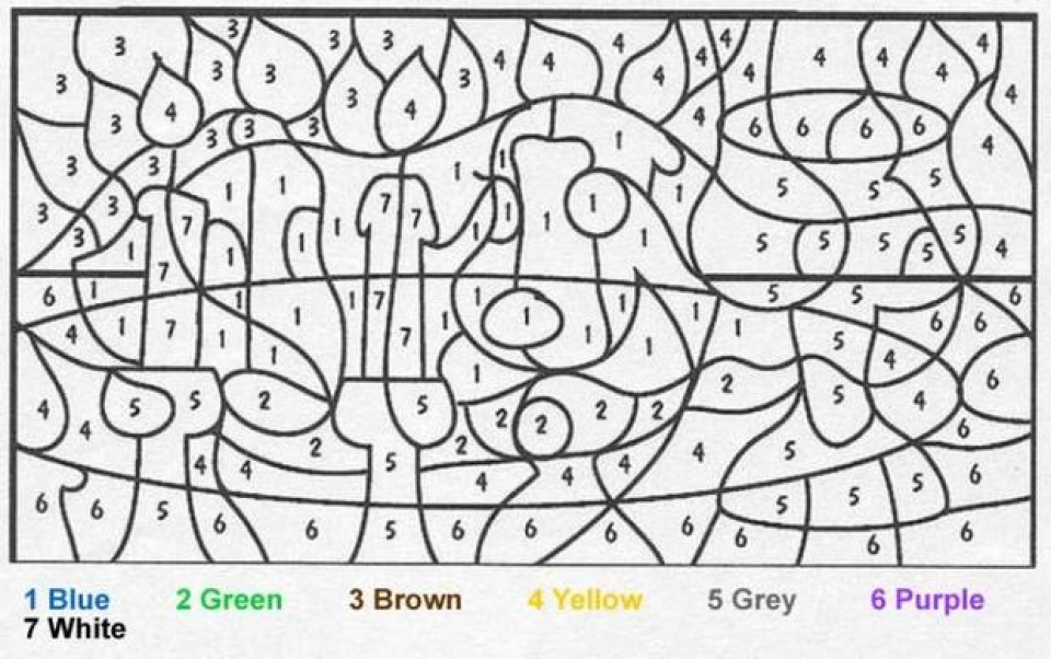Free Color By Number Pages to Print   18251