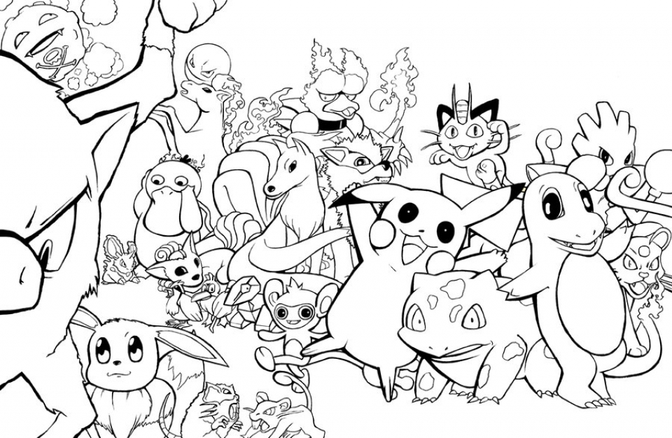 20+ Free Printable Coloring Pages Pokemon - EverFreeColoring.com