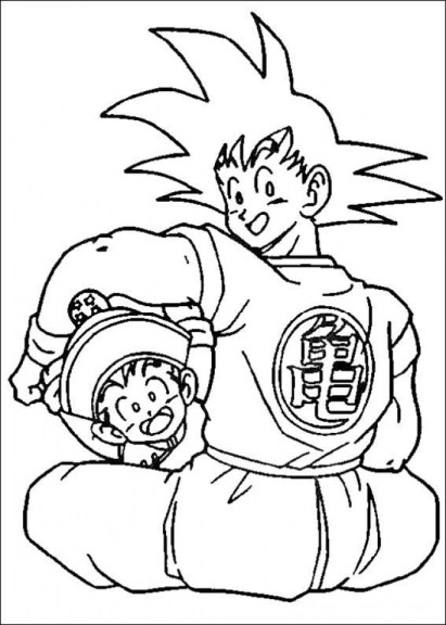 Free DBZ Coloring Pages to Print 18251