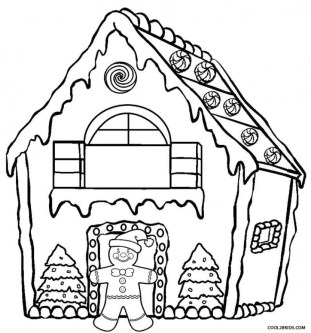Free Gingerbread House Coloring Pages for Toddlers vnSpN