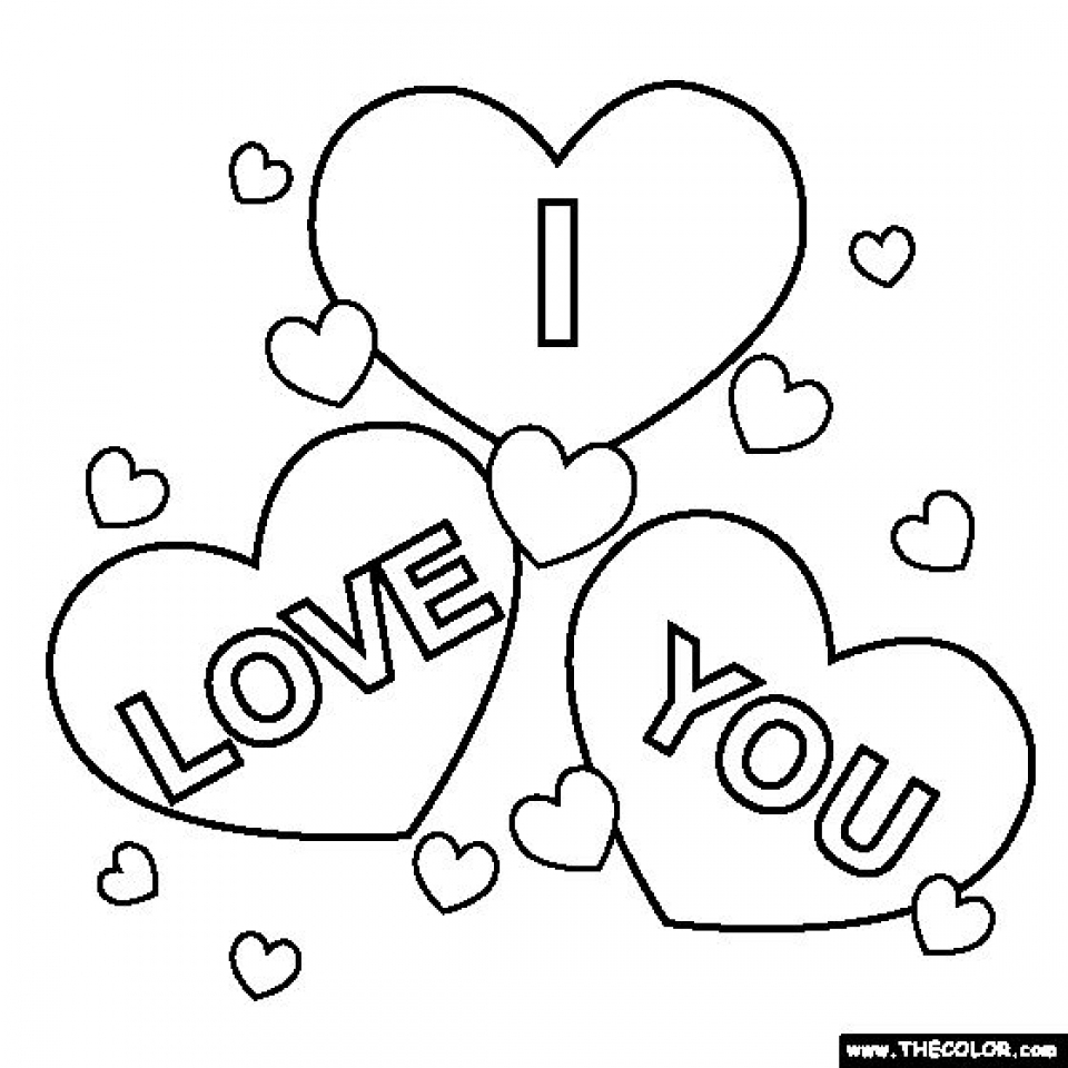 Free I Love You Coloring Pages for Kids   yy6l0