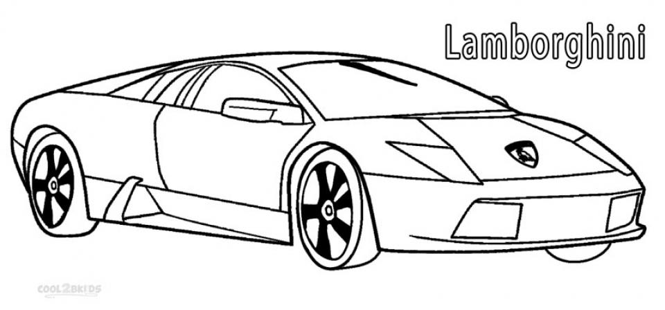 Free Lamborghini Coloring Pages   4488