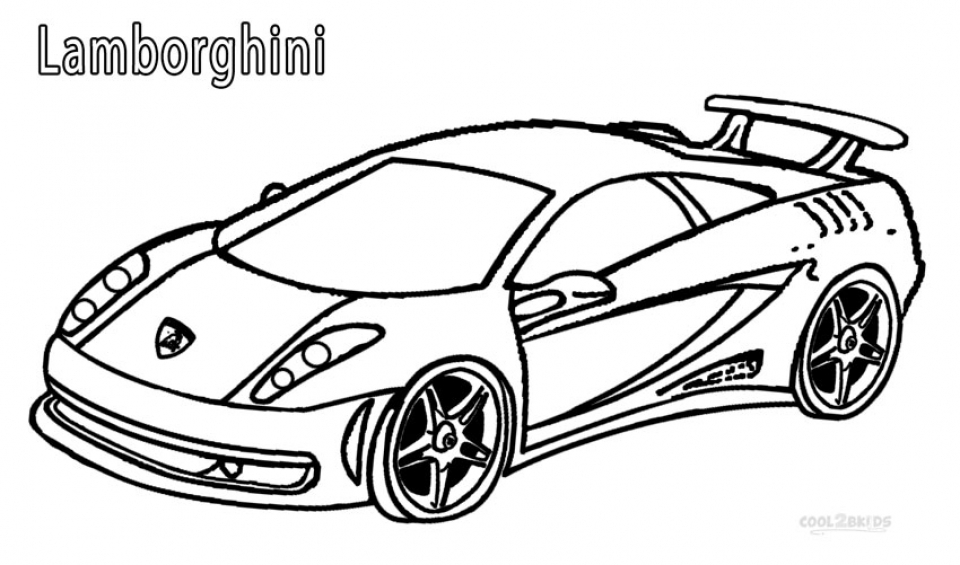Free Lamborghini Coloring Pages   46159