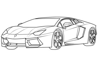 Free Lamborghini Coloring Pages 75908