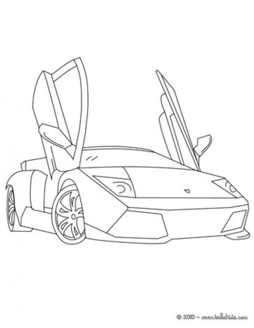 Free Lamborghini Coloring Pages to Print 12490