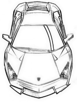 Printable Lamborghini Coloring Pages For Kids | 344x262