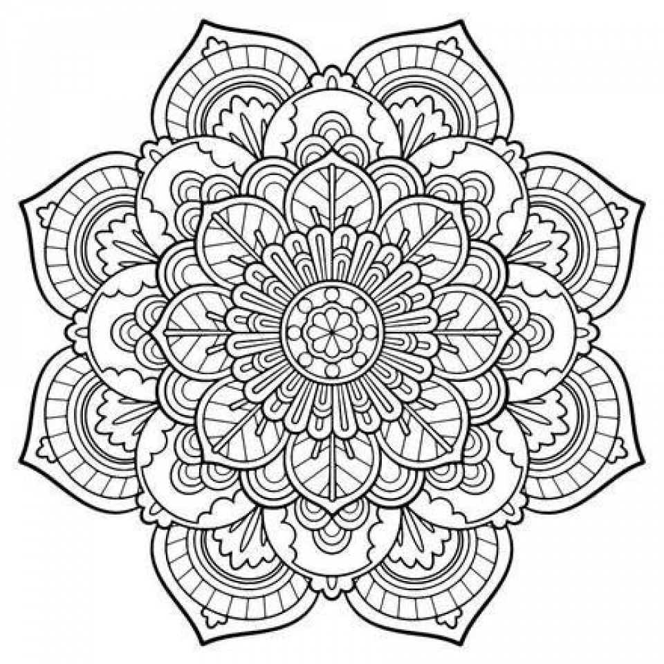 Get This Free Mandala Coloring Pages For Adults 42893 | free mandala colouring pages for adults