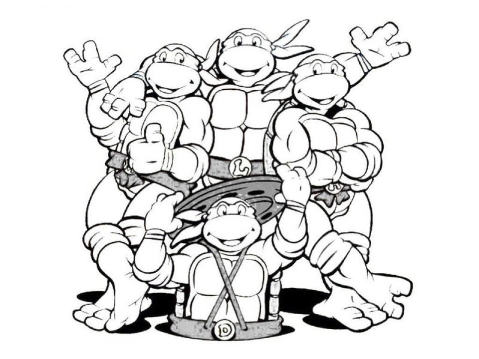 Free Ninja Turtle Coloring Page   47124
