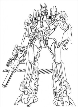 Free Optimus Prime Coloring Page for Kids yy6l0