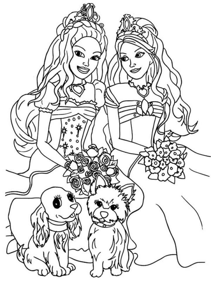 Free Picture of Barbie Coloring Pages   prmlr