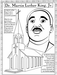 Free Picture of Martin Luther King Jr Coloring Pages prmlr