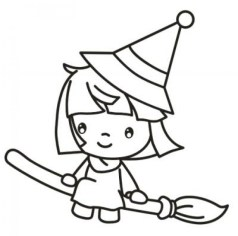 Free Printable Witch Coloring Pages for Kids I86Om