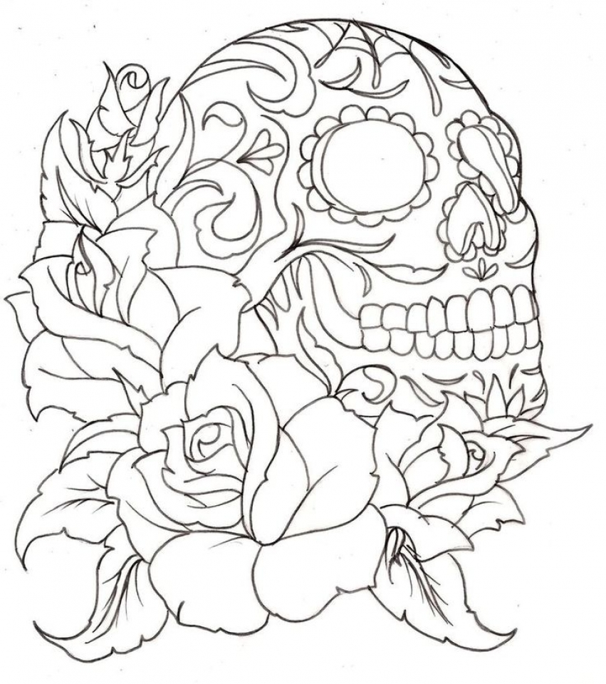 Free Roses Coloring Pages for Adults   46159