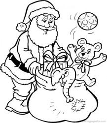 Free Santa Coloring Page 92143