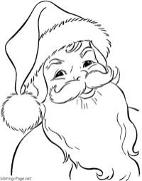 Free Santa Coloring Page to Print 88595