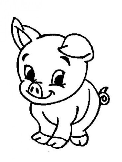 Free Simple Farm Animal Coloring Pages for Children af8vj