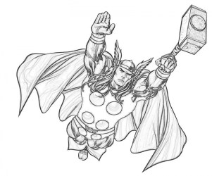 Free Thor Coloring Pages to Print 12490