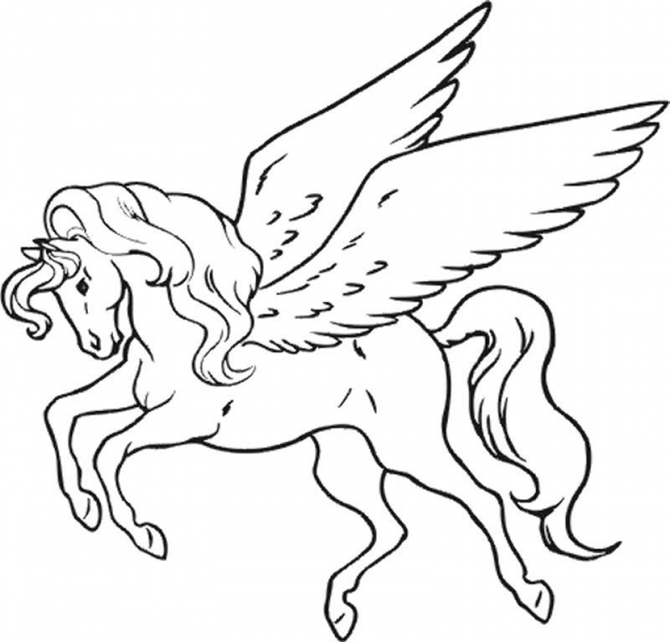 Free Unicorn Coloring Pages   75908